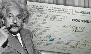 Albert Einstein's immigration papers turn up 80 years after he fled to ...