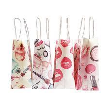 <b>10 Pcs</b>/lot Simple <b>Flower printed kraft</b> paper bag Festival gift bags ...