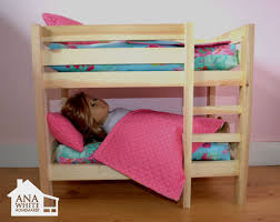 ana white doll bunk beds for american girl doll and 18 doll diy projects building doll furniture