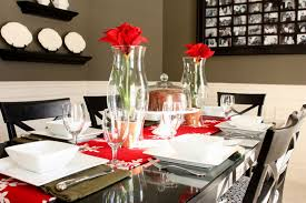 Dining Room Tables Decor Modern Dining Room Design For Christmas 2016 Of Dining Room