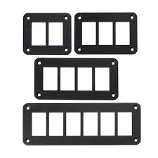 <b>Aluminum Rocker Switch Panel</b> 2/3/4/6 Way Housing Holder For Car ...