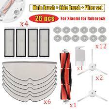 26PCS <b>Main Brush Filter</b> Mop For Xiaomi Roborock MI S50 S51 S55 ...