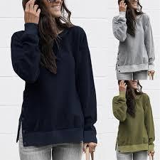 Lace Up Sweat Femme <b>Hoodie Women</b> Streetwear Tops Long ...