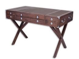 Desk in walnut, <b>three drawers</b> - EQUATEUR