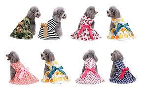 2 Pack of Elegant Ribbon Dog Dress, <b>Fashion Dog</b> Clothes Cotton ...