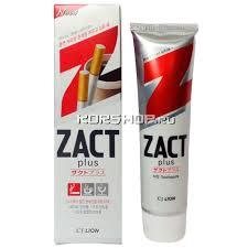 <b>Отбеливающая зубная паста Zact</b> plus Lion (от табака, кофе и ...