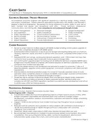 electrical engineering sample resumes template electrical engineering sample resumes