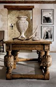 Havertys Dining Room Furniture Carved In Rich Oak With An Antique Walnut Finish This English