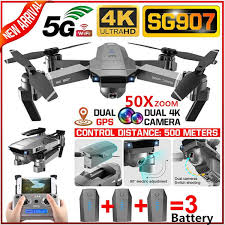 2020 <b>Newest SG907 Professional</b> 50X Zoom 5G WiFi FPV GPS ...