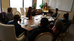 business entrepreneurs networking office in america each other succeed and grow in the business world it is important to market your company and network others to stay ahead of the competition