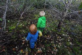 Image result for parent and child walking in the woods