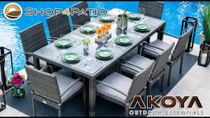 Bari <b>9 Piece Outdoor Dining</b> Set in Mixed Gray - YouTube