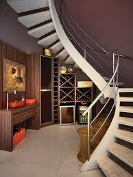 view in gallery gorgeous under staircase wine storage idea design bruno arquitetura box version modern wine cellar furniture