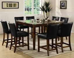 tall dining chairs counter: counter height dining chairs dining room incredible dining room decoration using tall black leather dining chair