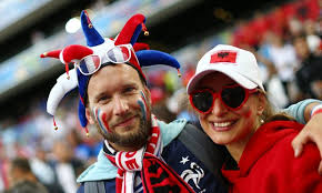 Image result for atmosphere at the france v. albania game 2016
