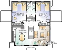 House plan W A detail from DrummondHousePlans com    nd level Garage house plan   bedroom apartment and private balconies   The Hillock
