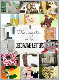 craftionary 18 ways to make decorative letters easy and creative