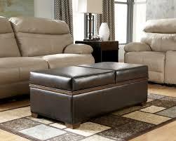 black upholstered living room ottoman