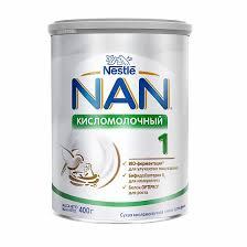 <b>Кисломолочная смесь NAN</b> 1 с рождения 400 г - купить в Москве ...