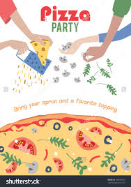 pizza party invitations vector pizza party invitation poster flyer dinner social event