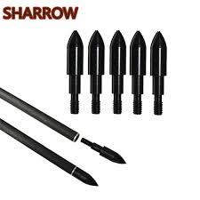 <b>24Pcs 100Grain 125</b> Grain Archery Arrow Field Points Screw on ...