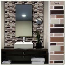 stick brown tiles bathroom floor ideas