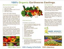 organic answers create balance organic answers earthworm earthworm castings brochure 2