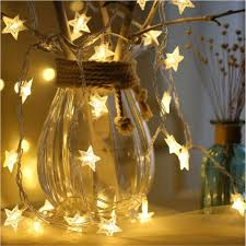 <b>4M 20Led</b> Star Shaped LED Fairy <b>String</b> Light Desk Lamp Bookcase ...