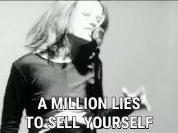 stupid girl lyrics garbage song in images a million lies to sell yourself