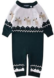 ZOEREA Newborn <b>Baby Romper Christmas Clothes</b> Knitted ...