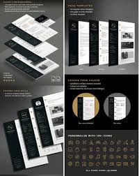 professional resume cv templates black and gold resume template