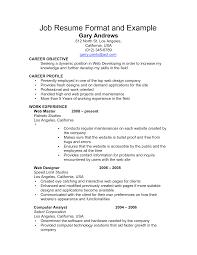 clean resume format resume  tomorrowworld coclean