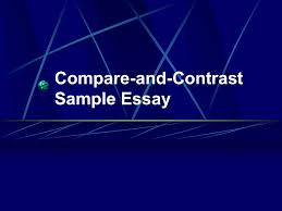 compare and contrast sample essay elementary school and middle   compare and contrast sample essay