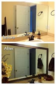 add frame to bathroom mirror diy bathroom mirror frame for less than  need to do this in my apartme