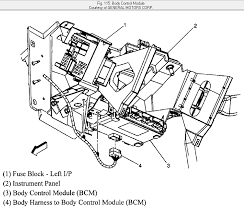 i need a bcm module wiring diagram for a 20056 chevy silverado 2500