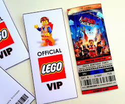 jennuine by rook no 17 printable ticket style party printable ticket style party invitations the lego movie