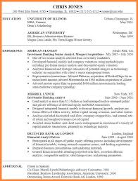curriculum vitae for bankers bussines proposal  curriculum vitae for bankers investment banking resume jpg