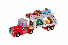 Автовоз с 4 гоночными машинками <b>Janod деревянные</b> артикул ...