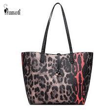 <b>FUNMARDI</b> Fashion Leopard <b>Women's</b> Handbag Composite Bag 2 ...