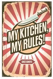 "<b>Табличка</b> настенная Ekoramka ""My <b>kitchen</b>"", металлическая ..."