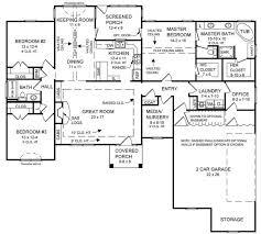 The Stone Brook   Bedrooms and   Baths   The House DesignersFloorplan