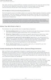 general portfolio instructions pdf entries based on documented accomplishments the third essential source of evidence about your practice reflects aspects