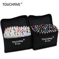 <b>TouchFive Marker 30/40/60/80</b>/<b>168 Colors pen</b> Brush <b>pen</b> Alcoholic ...