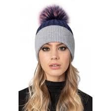 <b>Fur Pom Pom</b> Bobble <b>Hats</b> including Fox and Raccoon