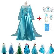 2019 <b>New Elsa</b> Dress Girls Summer Dress <b>Princess Anna</b> Cosplay ...