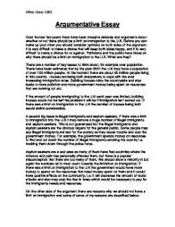 examples of good argumentative essays Good topics to write an essay about