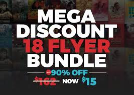 mega discount flyer bundle flyer templates on creative market