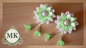 <b>Зажимы для волос</b>. Цветы. Канзаши. МК./ DIY. Flowers. Kanzashi ...