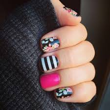 Sweet Nothing with Black & White Strips and Haute Pink. Get pretty ...