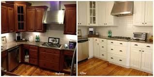 in style kitchen cabinets: excellent painting brown kitchen cabinets before and after lighthouseshoppe image of fresh in style ideas brown painted kitchen cabinets before and after